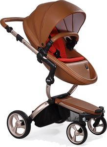 Mima 2019 Xari Complete Stroller, Rose Gold - Camel / Ruby Red