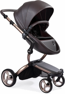 Mima G4 Xari Complete Stroller, Rose Gold - Chocolate Brown / Black (Albee Exclusive)