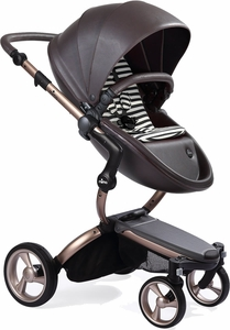 Mima G4 Xari Complete Stroller, Rose Gold - Chocolate Brown / Black & White (Albee Exclusive)