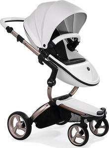Mima G4 Xari Complete Stroller, Rose Gold - Snow White / Black (Albee Exclusive)