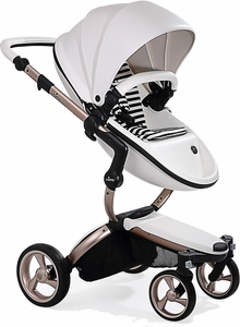Mima G4 Xari Complete Stroller, Rose Gold - Snow White / Black & White (Albee Exclusive)