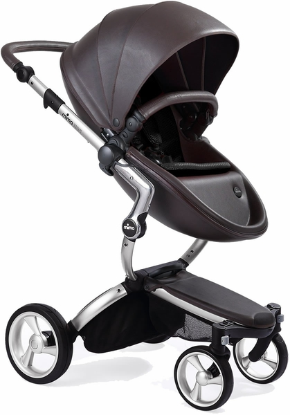 Mima Xari Complete Stroller, Silver - Chocolate Brown / Black