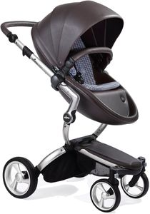 Mima Xari Complete Stroller, Silver - Chocolate Brown / Retro Blue