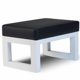 Monte Design Joya Ottoman in Black Enviroleather