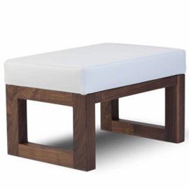 Monte Design Joya Ottoman in White Enviroleather