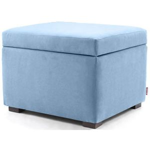 Awe Inspiring Monte Design Storage Ottoman In Light Blue Machost Co Dining Chair Design Ideas Machostcouk