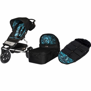 Mountain Buggy Urban Jungle Single Stroller + Carry Cot + Footmuff in Limited Edition Midnight