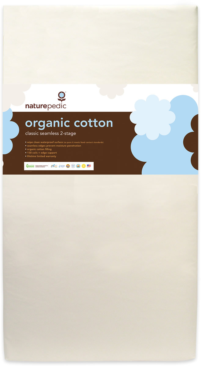 low priced 0d103 d68a2 Naturepedic MC32 Seemless Organic Cotton Classic Baby Mattress