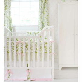 New Arrivals Bloom in Apple 4 Piece Crib Bedding Set