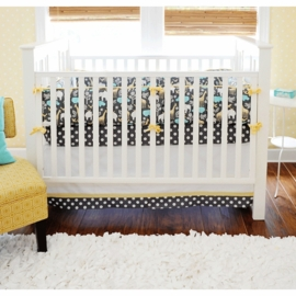 New Arrivals Urban Zoo in Grey 3 Piece Baby Crib Bedding Set
