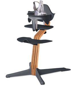 Nomi Highchair - Anthracite  /  Natural  Oak