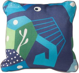 Nursery Works Oceanography Cubist Print Toddler Pillow - Seahorse