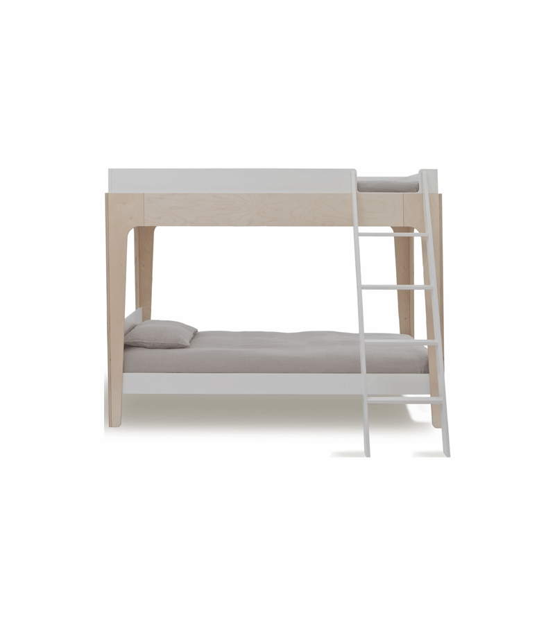 Oeuf Perch Bunk Bed: Oeuf Perch Bunk Bed In White/Birch
