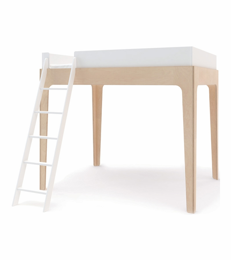 Oeuf Perch Bunk Bed: Oeuf Perch Loft Bed In White/Birch