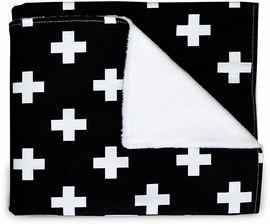 Olli + Lime Blanket - Black Cross