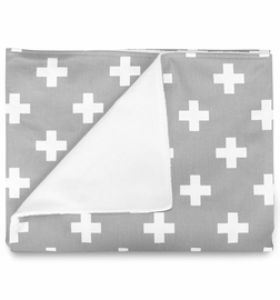 Olli + Lime Blanket - Grey Cross