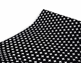 Olli + Lime Changing Pad Cover - Black Cross
