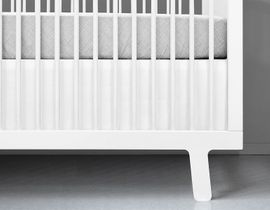 Olli + Lime Crib Skirt - White
