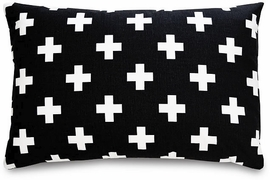 Olli + Lime Decorative Pillow - Black Cross