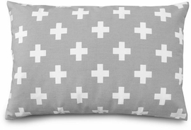 Olli + Lime Decorative Pillow - Grey Cross