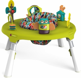 Oribel PortaPlay 4-in-1 Foldable Activity Center - Turn, Bounce, Play, Transform - Forest Friends