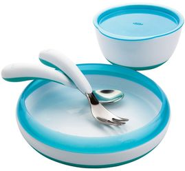 OXO Tot 4 Piece Feeding Set in Aqua