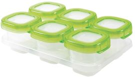 OXO Tot Baby Blocks Freezer Storage Containers, 2 oz - Green