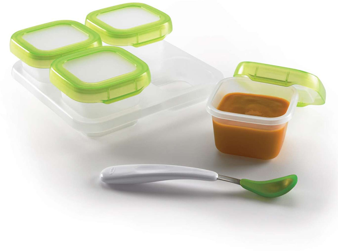 Oxo Tot Baby Blocks Freezer Storage Containers 4 Ounce Set