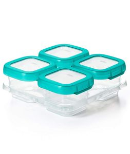 OXO Tot Baby Blocks Freezer Storage Containers, 4 oz - Teal
