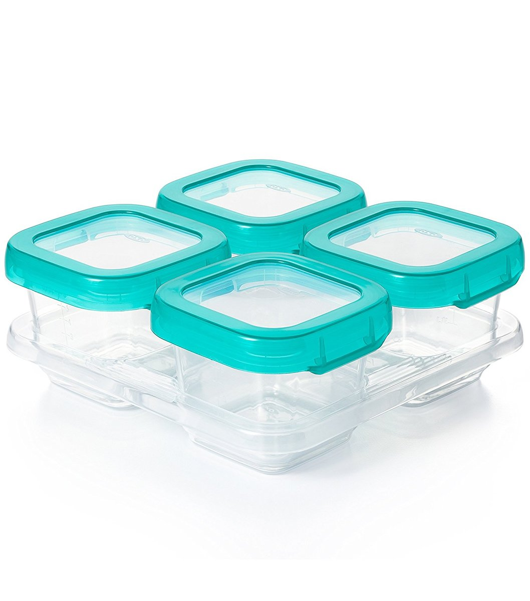 Oxo Tot Baby Blocks Freezer Storage Containers 6 Oz Teal