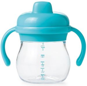 OXO Tot Transitions Sippy Cup with Removable Handles, 6 oz - Aqua
