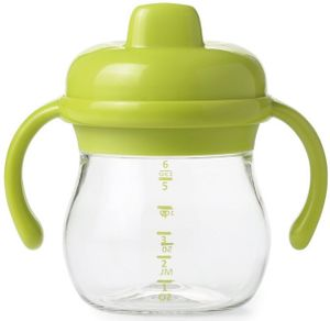 OXO Tot Transitions Sippy Cup with Removable Handles, 6 oz - Green