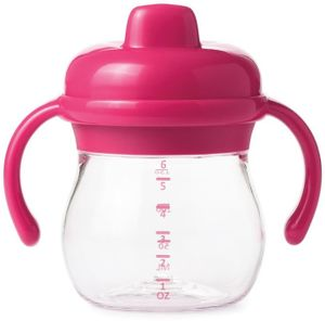 OXO Tot Transitions Sippy Cup with Removable Handles, 6 oz - Pink