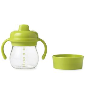 OXO Tot Transitions Soft Spout Sippy Cup Set, 6 oz - Green