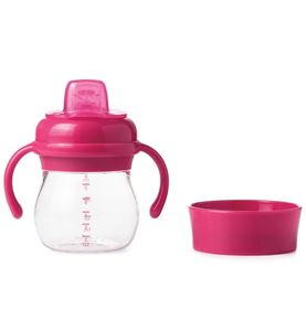 OXO Tot Transitions Soft Spout Sippy Cup Set, 6 oz - Pink