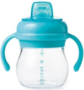 OXO Tot Transitions Soft Spout Sippy Cup with Removable Handles, 6 oz - Aqua