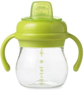 OXO Tot Transitions Soft Spout Sippy Cup with Removable Handles, 6 oz - Green