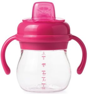 OXO Tot Transitions Soft Spout Sippy Cup with Removable Handles, 6 oz - Pink
