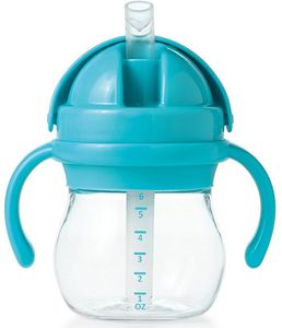 OXO Tot Transitions Straw Cup with Handles, 6 oz - Aqua