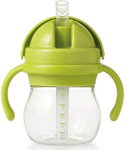 OXO Tot Transitions Straw Cup with Handles, 6 oz - Green