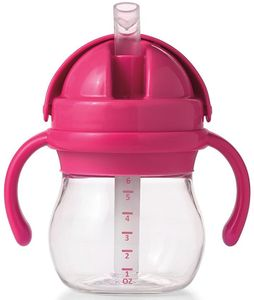 OXO Tot Transitions Straw Cup with Handles, 6 oz - Pink