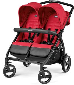 Peg Perego Book for Two Double Stroller - Mod Red