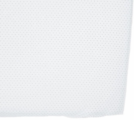 Petit Pehr Crib Sheet - Pin Dot Grey