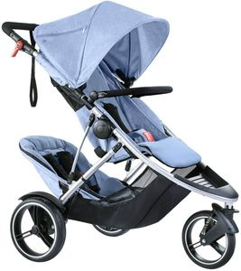 Phil & Teds Dash Double Stroller - Blue