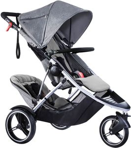Phil & Teds Dash Double Stroller - Grey