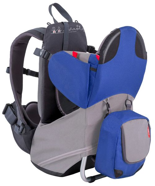Phil & Teds Parade Backpack Diaper Bag Baby Carrier - Blue / Grey