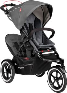 Phil & Teds Sport Double Stroller - Graphite