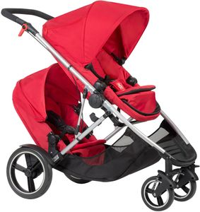 Phil & Teds Voyager Double Stroller - Red
