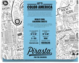 Pirasta Let's Color America Coloring Sheets