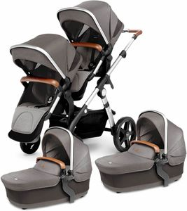 Silver Cross 2019 / 2020 Wave Twin Stroller - Sable